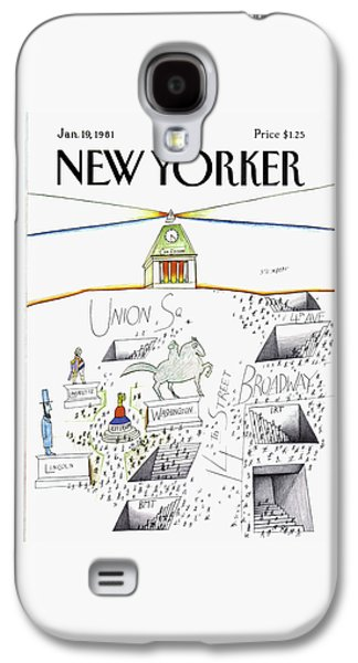 New Yorker January 19th, 1981 Galaxy S4 Case by Saul Steinberg