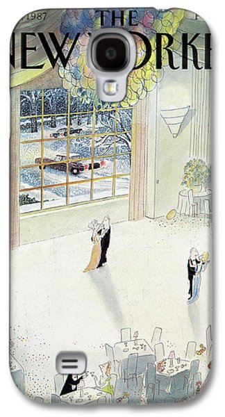 New Yorker January 5th, 1987 Galaxy S4 Case by Jean-Jacques Sempe