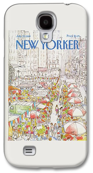 New Yorker July 27th, 1981 Galaxy S4 Case by Arthur Getz