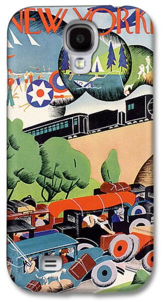 New Yorker July 4th, 1931 Galaxy S4 Case by Theodore G. Haupt