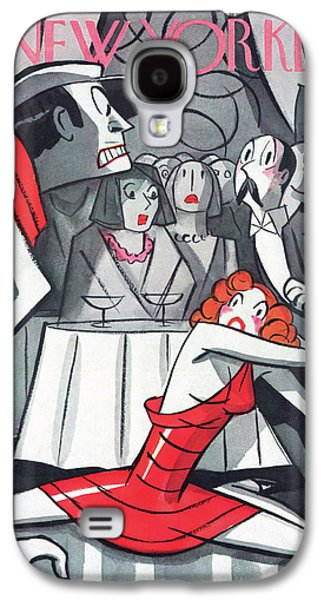 New Yorker November 7th, 1936 Galaxy S4 Case by Peter Arno