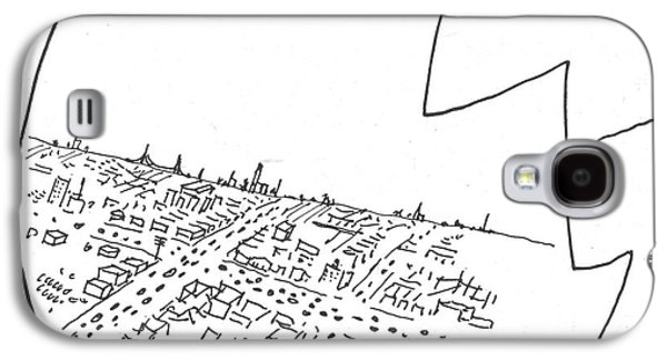 New Yorker October 29th, 1955 Galaxy S4 Case by Saul Steinberg
