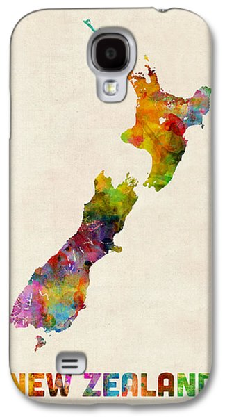 New Zealand Watercolor Map Galaxy S4 Case by Michael Tompsett
