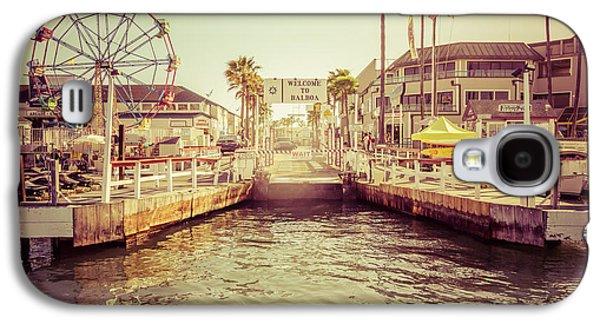 Newport Beach Balboa Island Ferry Dock Photo Galaxy S4 Case by Paul Velgos