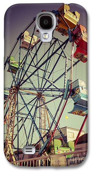 Newport Beach Ferris Wheel In Balboa Fun Zone Photo Galaxy S4 Case by Paul Velgos