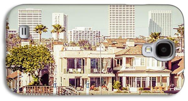 Newport Beach Skyline Vintage Panorama Galaxy S4 Case