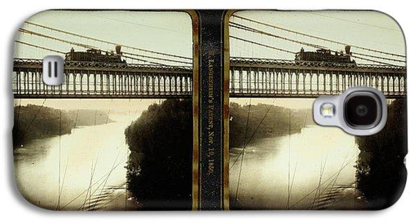 Niagara Falls, Summer View, Suspension Bridge Galaxy S4 Case by Litz Collection