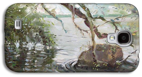 Seagull Galaxy S4 Case - Niagara River Side by Ylli Haruni