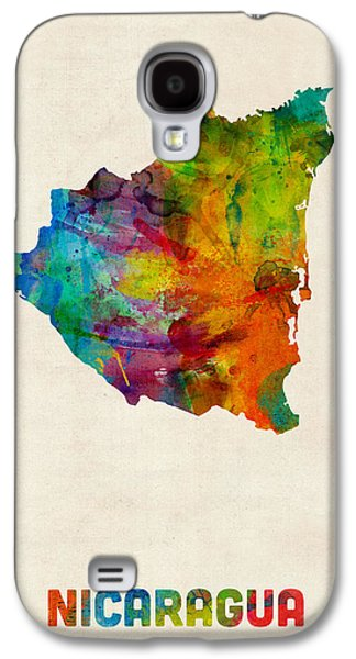 Nicaragua Watercolor Map Galaxy S4 Case by Michael Tompsett