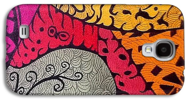Galaxy S4 Case - Nice Colors In A Doodling Designs I by Sandra Lira