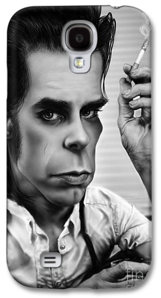 Nick Cave Galaxy S4 Case by Andre Koekemoer