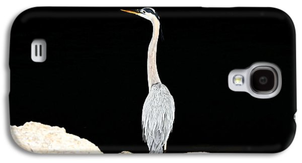 Galaxy S4 Case featuring the photograph Night Of The Blue Heron  by Anthony Baatz