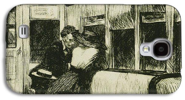 Night On The El Train Galaxy S4 Case by Edward Hopper