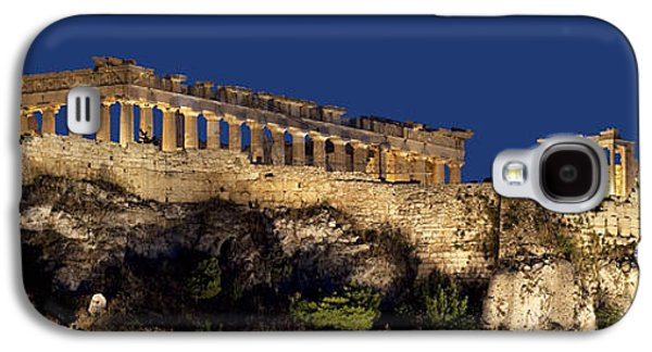 Night Panoramic View Of Acropolis Galaxy S4 Case by Baltzgar