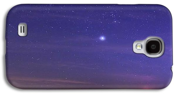 Night Sky And Setting Moon Galaxy S4 Case by Luis Argerich