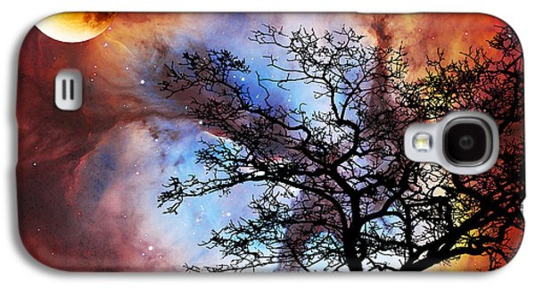 Night Sky Landscape Art By Sharon Cummings Galaxy S4 Case by Sharon Cummings