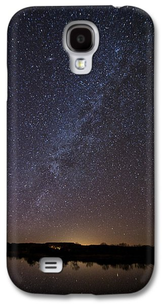 Night Sky Reflected In Lake Galaxy S4 Case