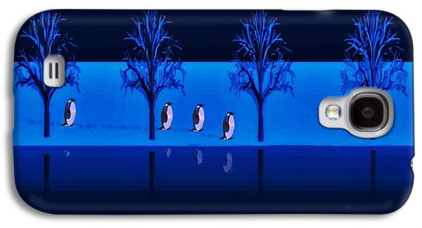 Night Walk Of The Penguins Galaxy S4 Case