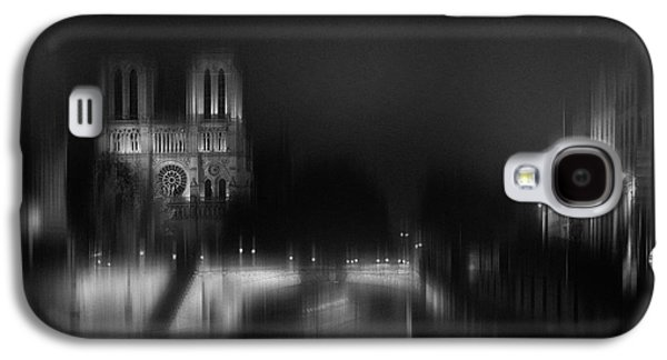 Notre Dame Galaxy S4 Case - Nigth - Catha?drale Notre Dame by Sol Marrades