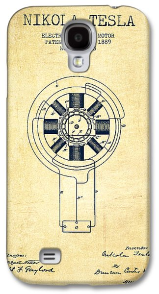Nikola Tesla Patent Drawing From 1889 - Vintage Galaxy S4 Case by Aged Pixel