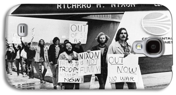 Nixon Protest In Anaheim Galaxy S4 Case by Underwood Archives