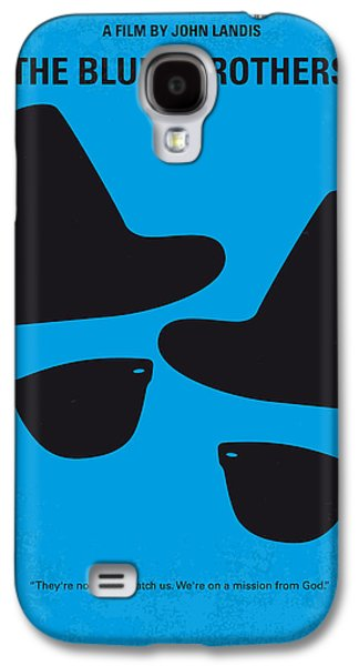 City Scenes Galaxy S4 Case - No012 My Blues Brother Minimal Movie Poster by Chungkong Art