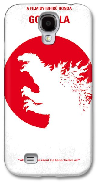 No029-2 My Godzilla 1954 Minimal Movie Poster.jpg Galaxy S4 Case by Chungkong Art