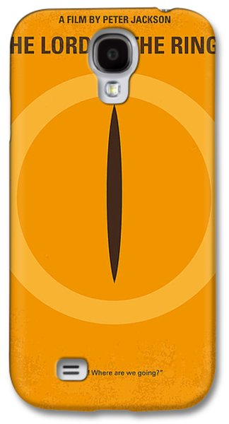No039 My Lord Of The Rings Minimal Movie Poster Galaxy S4 Case by Chungkong Art