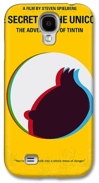 No096 My Tintin-3d Minimal Movie Poster Galaxy S4 Case