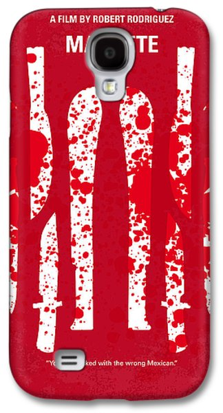 No114 My Machete Minimal Movie Poster Galaxy S4 Case by Chungkong Art