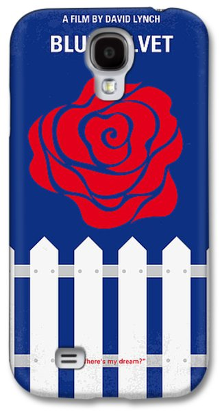 No170 My Blue Velvet Minimal Movie Poster Galaxy S4 Case