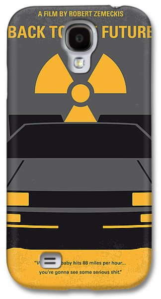 No183 My Back To The Future Minimal Movie Poster Galaxy S4 Case by Chungkong Art