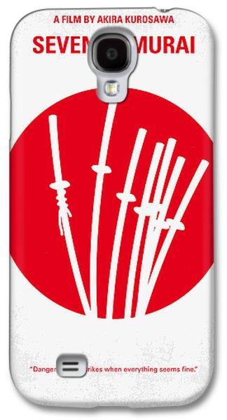 No200 My The Seven Samurai Minimal Movie Poster Galaxy S4 Case by Chungkong Art