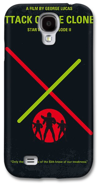 No224 My Star Wars Episode II Attack Of The Clones Minimal Movie Poster Galaxy S4 Case by Chungkong Art