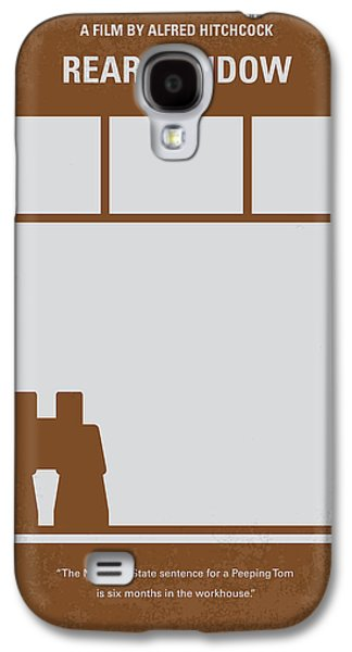 No238 My Rear Window Minimal Movie Poster Galaxy S4 Case by Chungkong Art