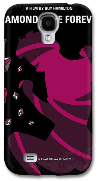 No277-007 My Diamonds Are Forever Minimal Movie Poster Galaxy S4 Case by Chungkong Art