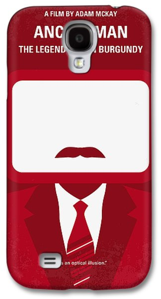 No278 My Anchorman Ron Burgundy Minimal Movie Poster Galaxy S4 Case by Chungkong Art