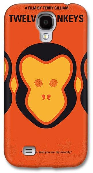 No355 My 12 Monkeys Minimal Movie Poster Galaxy S4 Case by Chungkong Art