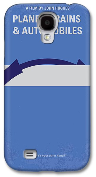 No376 My Planes Trains And Automobiles Minimal Movie Poster Galaxy S4 Case by Chungkong Art