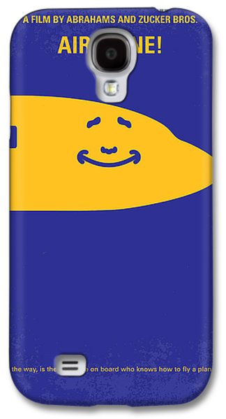 Airplane Galaxy S4 Case - No392 My Airplane Minimal Movie Poster by Chungkong Art