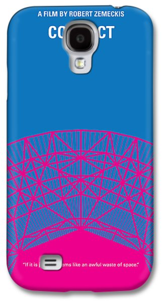 No416 My Contact Minimal Movie Poster Galaxy S4 Case by Chungkong Art