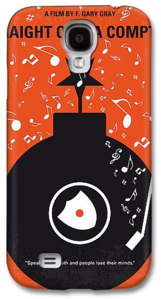 No422 My Straight Outta Compton Minimal Movie Poster Galaxy S4 Case by Chungkong Art