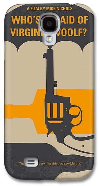No426 My Whos Afraid Of Virginia Woolf Minimal Movie Poster Galaxy S4 Case by Chungkong Art