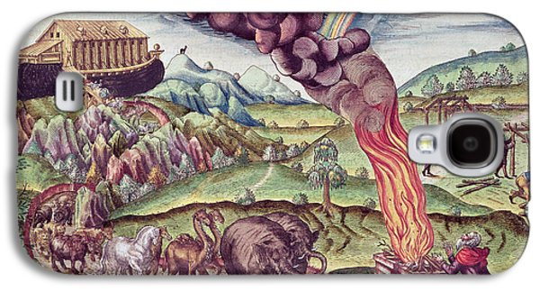 Noahs Ark, Illustration From Brevis Narratio..., Published By Theodore De Bry, 1591 Coloured Galaxy S4 Case by Th. Bry