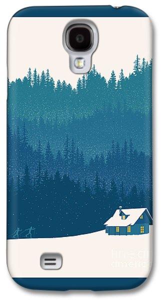 Nordic Ski Scene Galaxy S4 Case