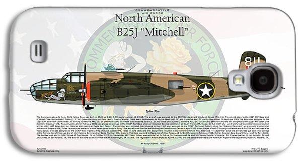 North American B-25j Mitchell Yellow Rose Galaxy S4 Case