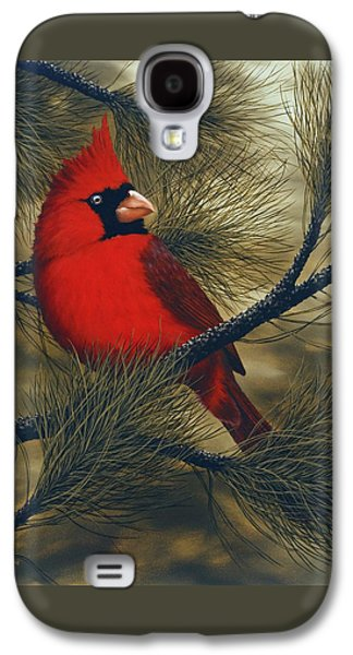 Northern Cardinal Galaxy S4 Case by Rick Bainbridge