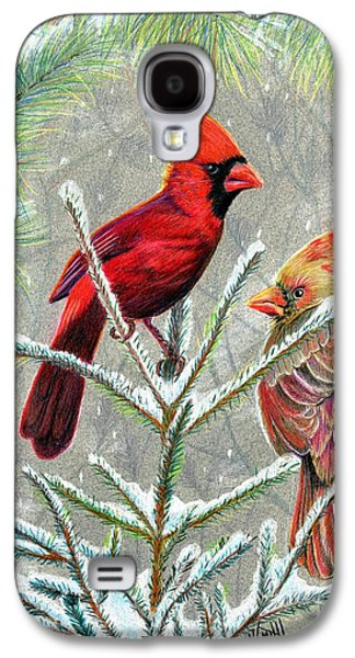 Northern Cardinals Galaxy S4 Case