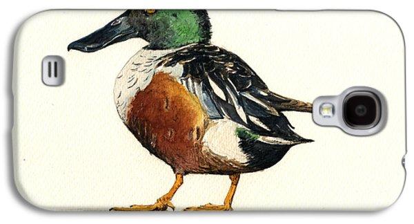 Duck Galaxy S4 Case - Northern Shoveler by Juan  Bosco