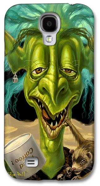 Not Enough Coffee Troll Galaxy S4 Case by Jeff Haynie
